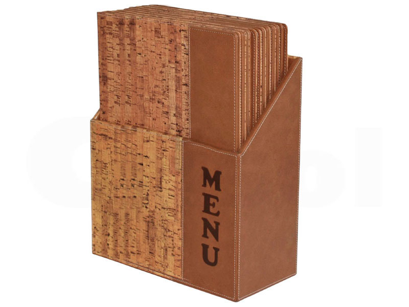 Menu Box portacartas Cork