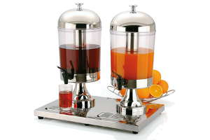 Dispensador doble zumo Inox Star
